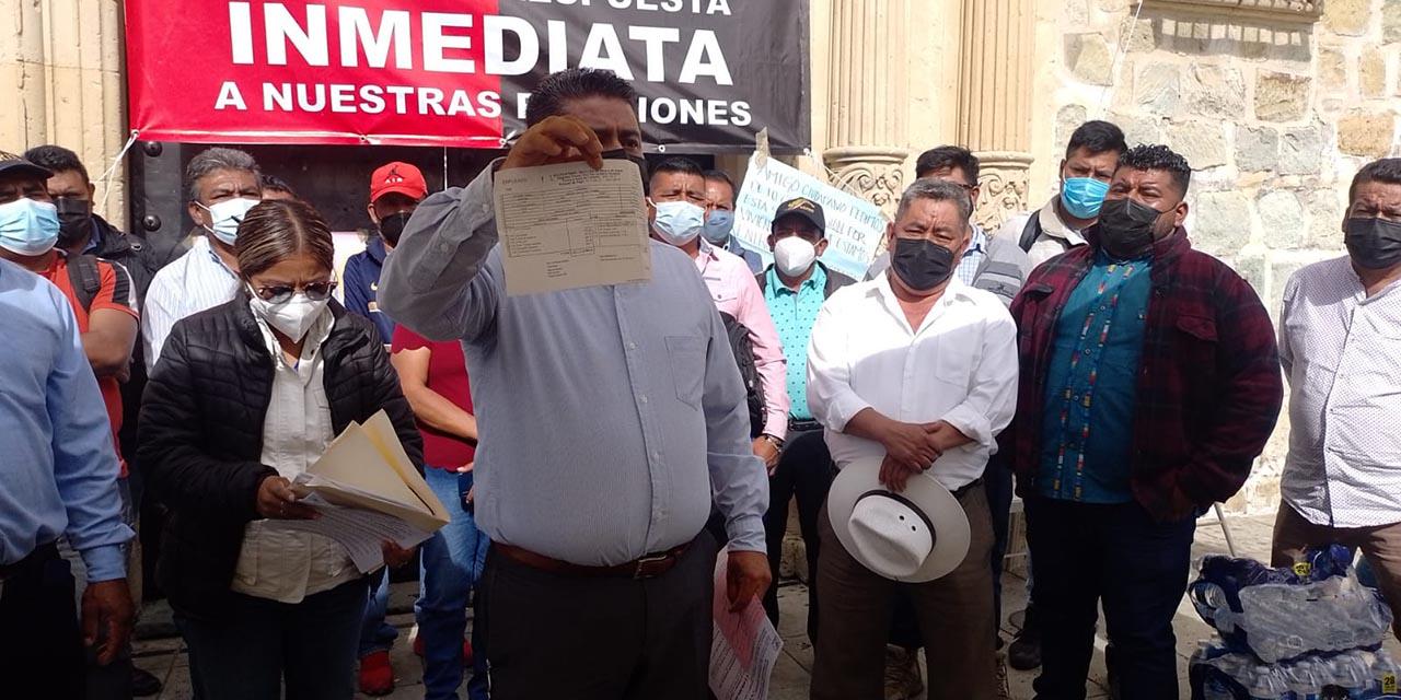 Sindicato 3 de Marzo se dice decepcionado del edil capitalino; protesta seguirá   El Imparcial de Oaxaca