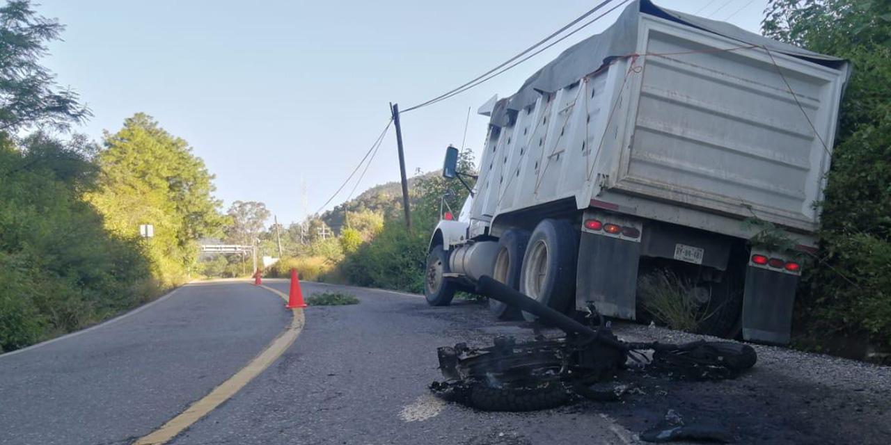 Se estampa motociclista en carretera de Ixtlán de Juárez   El Imparcial de Oaxaca