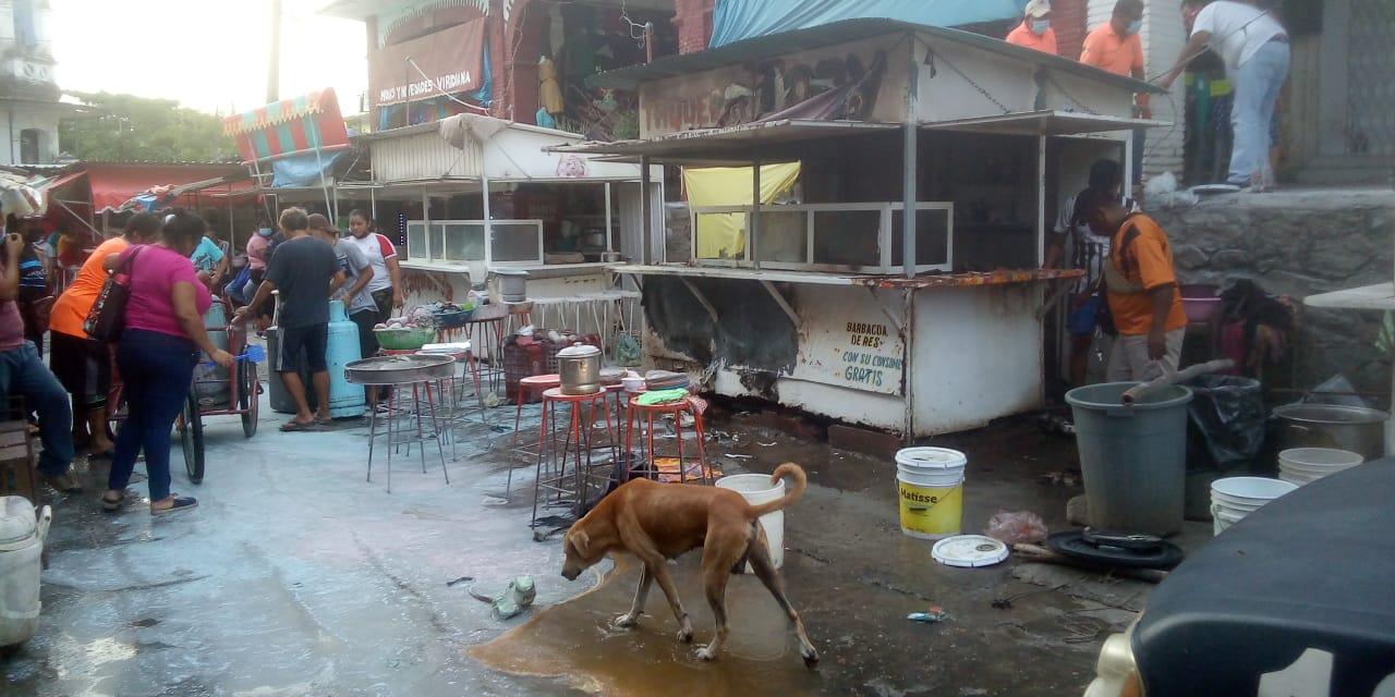 Explota tanque de gas  en conocida taquería   El Imparcial de Oaxaca