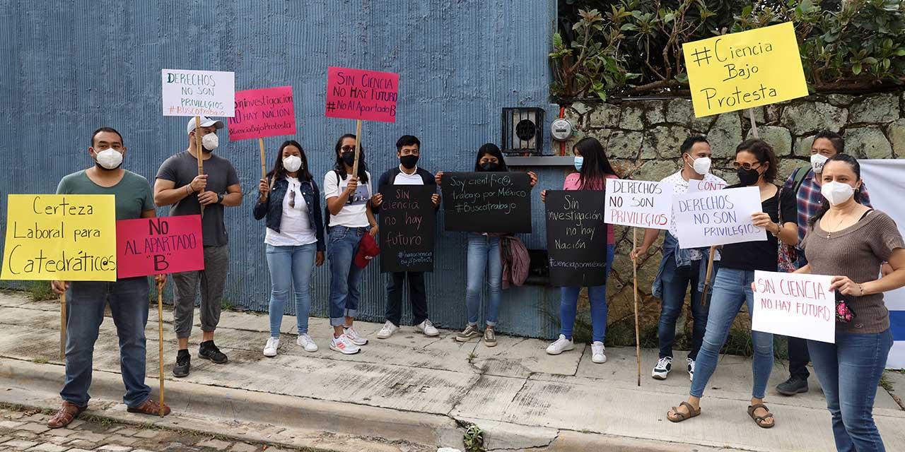 Investigadores de Oaxaca se suman a protestas por incertidumbre ante el Conacyt | El Imparcial de Oaxaca