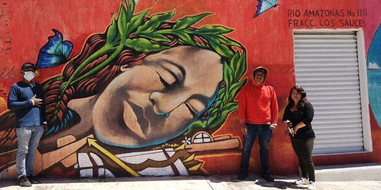 Con murales rescatan espacios de Los Sauces | El Imparcial de Oaxaca