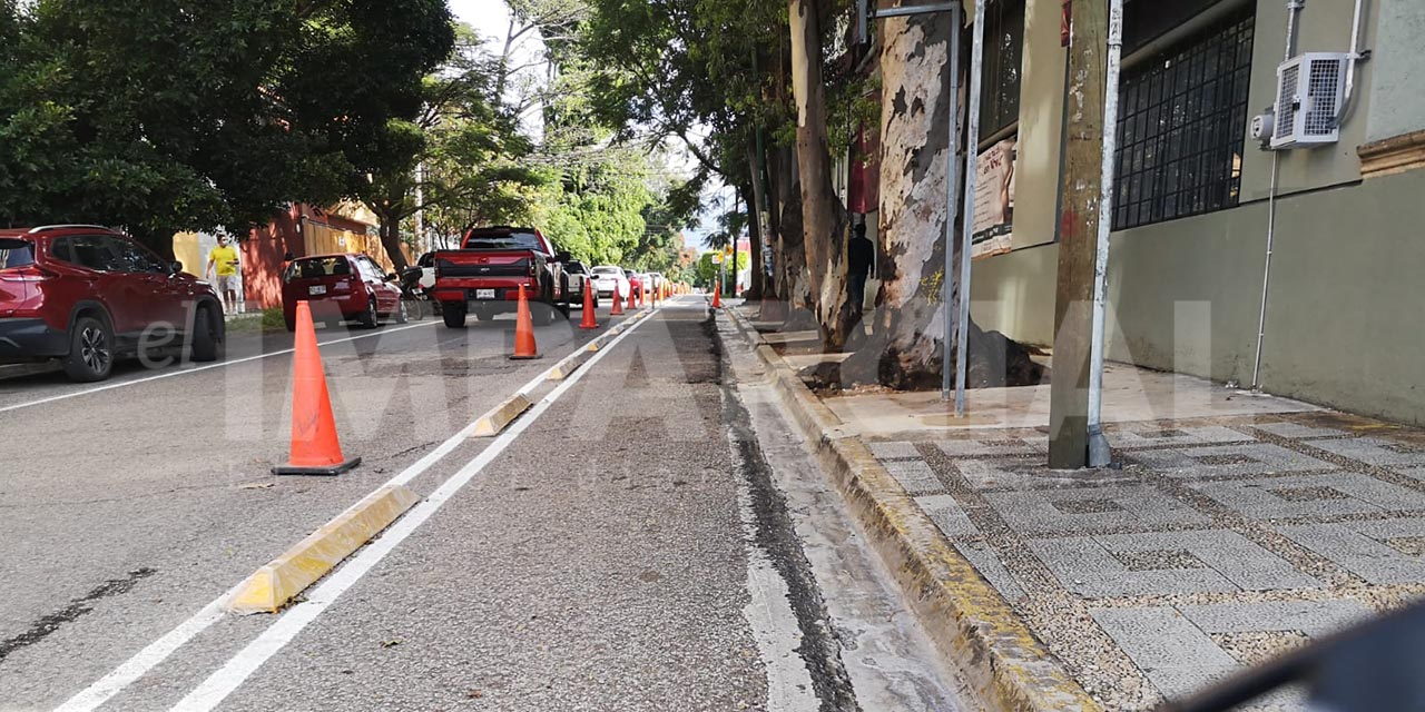 Realizan construcción de BiciRuta en la colonia Reforma