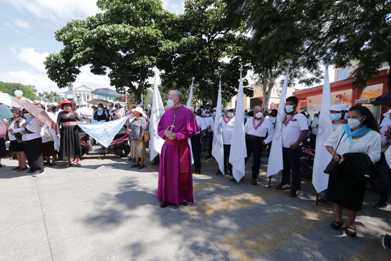 Participa Arquidiócesis de Antequera en jornada a favor de la vida y de la mujer