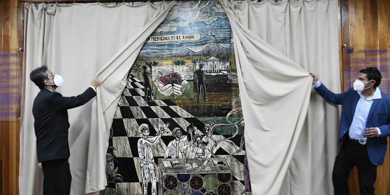 Develan mural del artista Hermann Orduña en la Facultad de Medicina y Cirugía de la UABJO | El Imparcial de Oaxaca