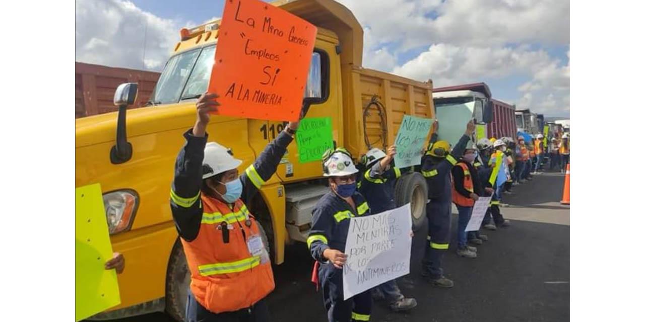 Por temor a su cierre definitivo, protestan trabajadores de la Minera Cuzcatlán   El Imparcial de Oaxaca