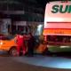 Taxi se impacta con una unidad de SUR en Salina Cruz