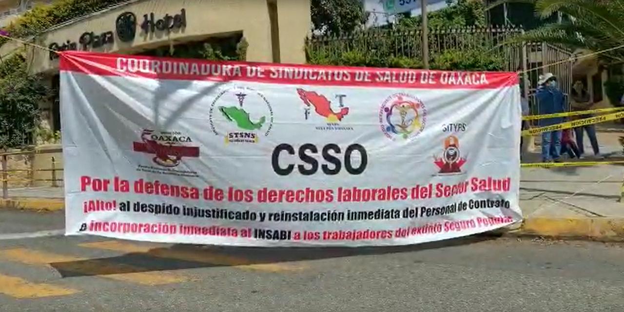Se unen extrabajadores eventuales de salud a bloqueos en la capital   El Imparcial de Oaxaca