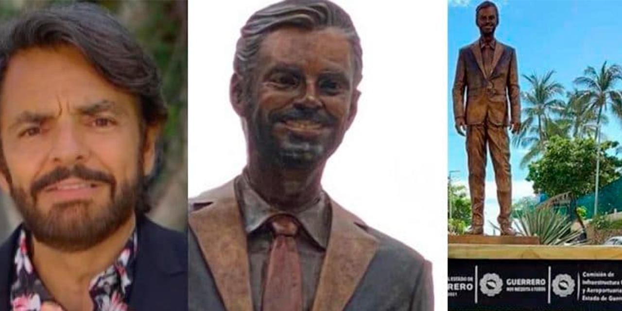 Vandalizan estatua de Eugenio Derbez | El Imparcial de Oaxaca