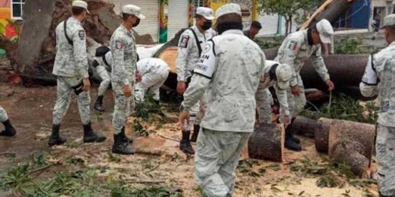 Guardia Nacional apoya a la población en Mazatlán afectada tras el paso de 'Pamela' | El Imparcial de Oaxaca