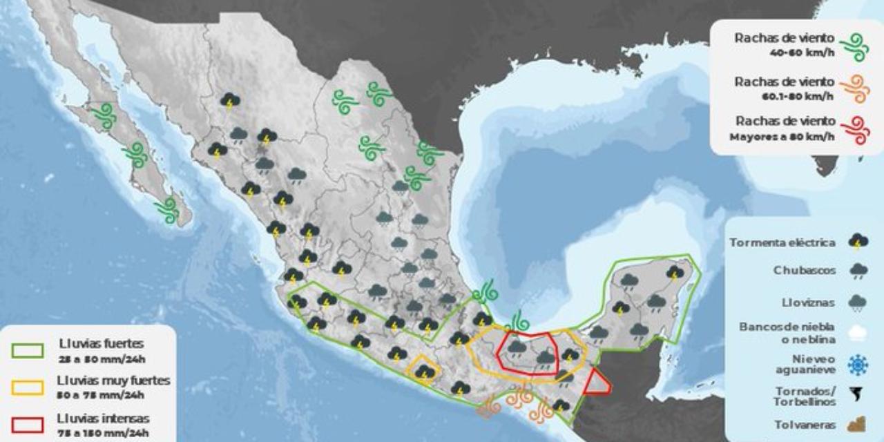 Emite CEPCO aviso especial por presencia de Frente Frío número 2  y Onda Tropical número 35   El Imparcial de Oaxaca